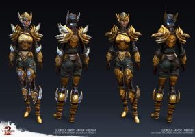 Guild Wars 2 - Glorious Medium Armor by Alemja