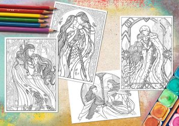 In Love - Colouring pages by JankaLateckova