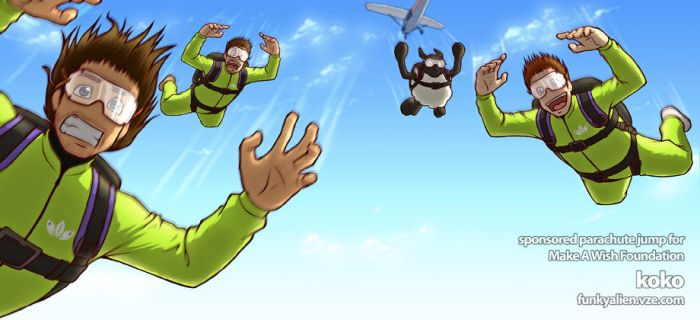 Koko sponsored parachute jump by funkyalien
