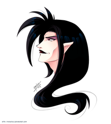 Dark Rayerth OC Headshot by monstee