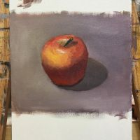 oil study - apple by lemon5ky