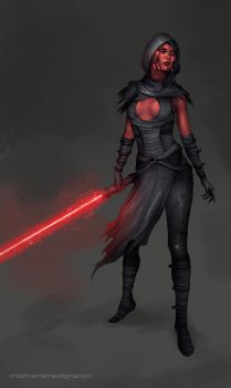 Commission: Sith Lady II by VincentiusMatthew