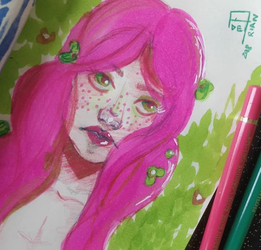 Pink and green by Aderian01