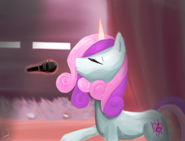 Sweetie Belle's Big Finish by Rixnane