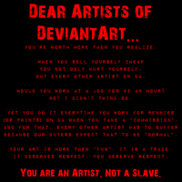 Dear Artists of DA by CindersDesigns