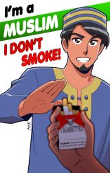 I'm a Muslim. I don't smoke by Nayzak