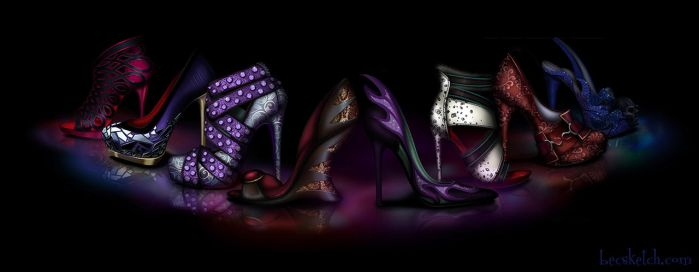 Dark Sole - Disney Villain Inspired Shoes by becsketch