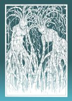 White birch dryads by daichikawacemi