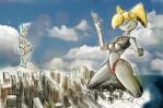Giantess Draw - A BIG New Threat by Colonel-Gabbo