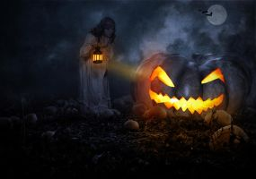 The Giant Pumpkin.. by AledJonesDigitalArt