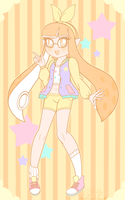 .: Pastel Girl: Orange Inkling Girl :. by PinkPrincessBlossom