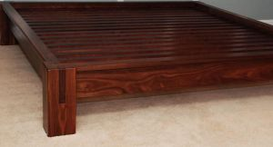 Slatted Walnut Platform Bed by belakwood