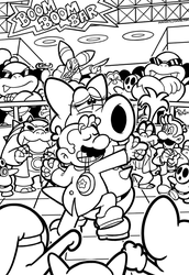 SMB the movie coloring book REMAKE 40 by FlintofMother3