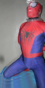 Spider-man bagged for some breathplay 3 by rubbermask