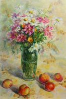 Flowers and  peaches by PrusRuslan