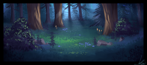 Just a simple forest by Snowcatx