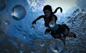 Tomb Raider - Swimming by Larreks
