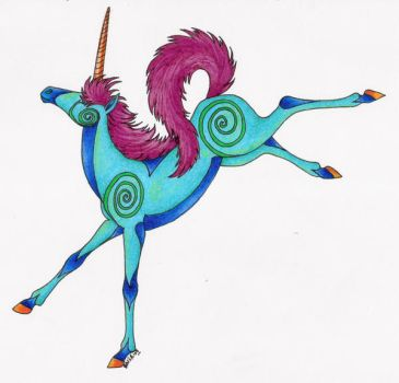 Funky Unicorn by Shara-Moonglow