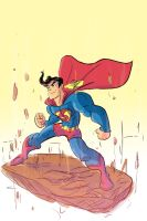 Superman's charging up by kross29