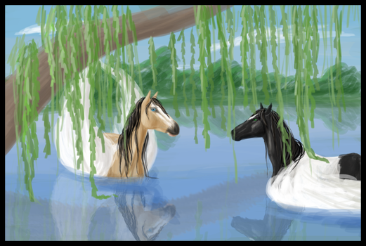 swim among willows by littlewillow-art
