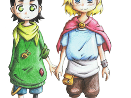 Marvel: Loki and Thor Kids by Freaky-chan