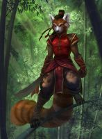 Bamboo Warrior by EchoesLight