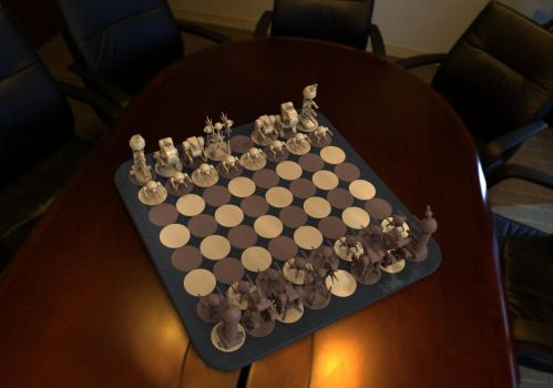 Robot Chess View by Raymon92