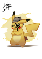 Detective Pikachu on the Case by HiroSenpaiArt