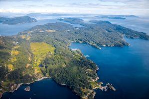 Vancouver Island by Plane by DeadLetterDesign