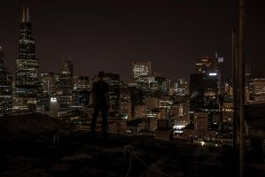 Chicago Rooftop by 5isalive
