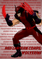 Red Lantern Corps: Wolverine by AshleyWharfe