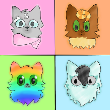 Redesigned Character Headshots by SolarKittyCat