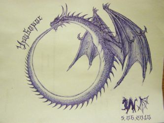 Ouroboros by WalesDragon-2012