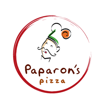 logo Paparon's Pizza by tienTOON