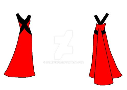 Red and Black Dress Design by saren1986