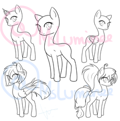 MLP mare base (tablet users) (premade manes)+ by Lumicorn