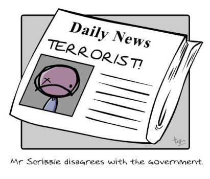 Mr. Scribble 1.3: Terrorist by x-vegan-x
