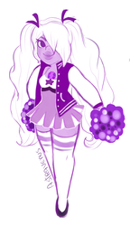 Cheerleader Amethyst Sketch by Whelsey