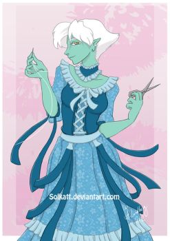 Enchanting seamstress by Solkatt