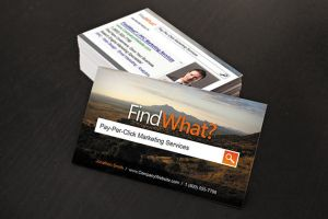 Bing SEO Business Cards by xstortionist