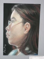 Self Portrait in Nupastels by RoyLover