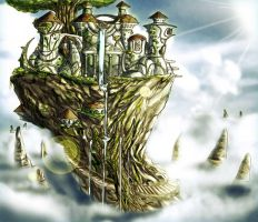 Elven Palace by benbal