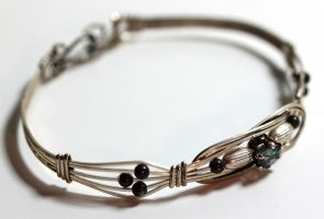 Sterling and Topaz Bangle by Ironmountain01