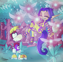 Rayman and Ly by Sarasaland-Dragon