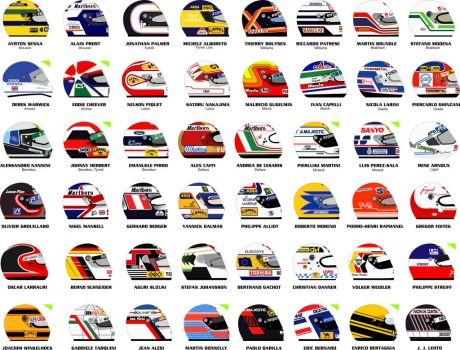 F1 1989 helmets by ppg1977