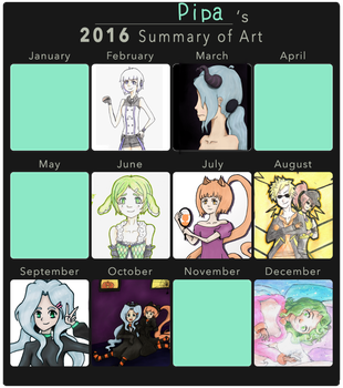 2016 Summary of Art by Cherii-pipa