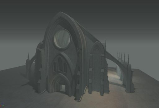 Cathedral 1 - Work in Progress by DigitalNightfall