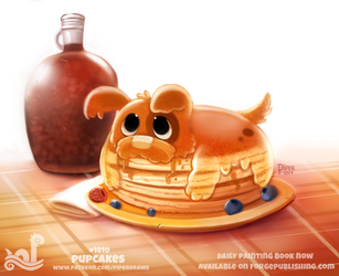Daily Paint 1810# Pupcakes by Cryptid-Creations