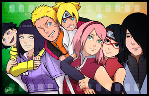 Naruhina and Sasusaku Family by ambarnarutofrek1