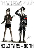 Gothic Outfit Challenge 6: Military Goth by MauroStrange